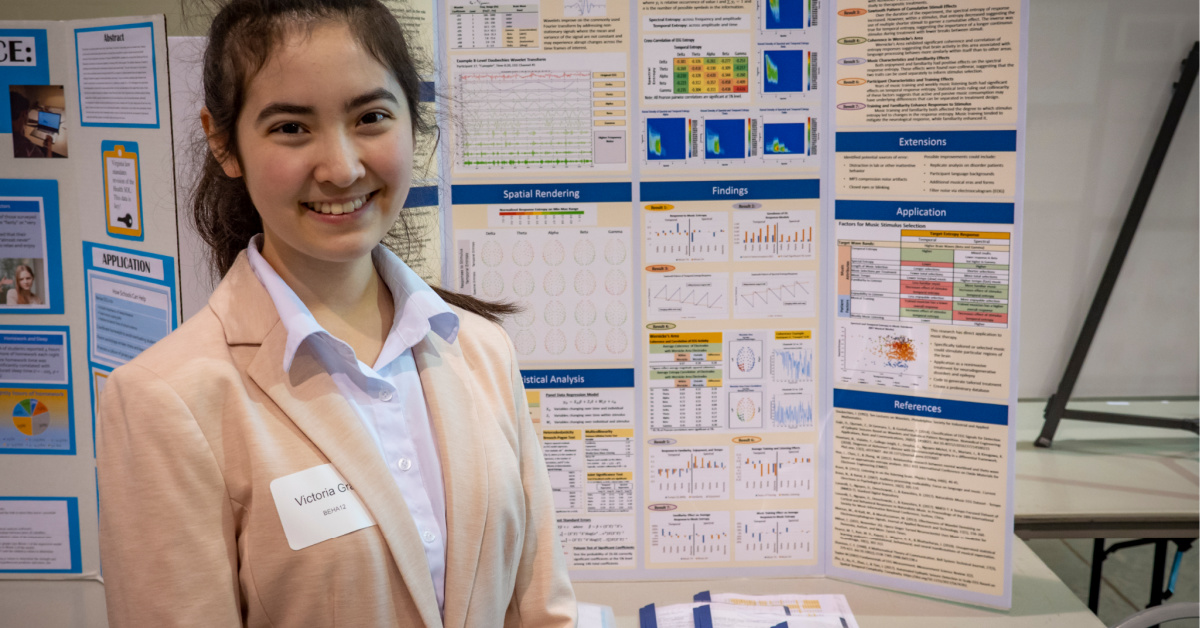 Alexandria Student Uses Music in Cutting-Edge Research